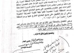 """""""المنطقة الحرة ببورسعيد"""" يطالب الجمارك بالإفراج عن 33 حاوية"""