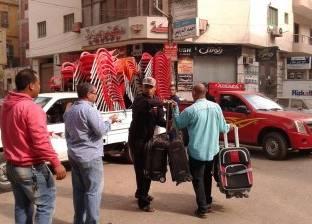 حملة لرفع الإشغالات في 3 مناطق بالمنصورة