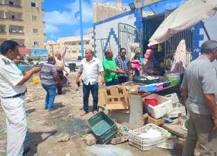 صور.. حملة لإزالة الإشغالات وإعادة الانضباط في شوارع مطروح