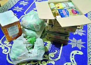 توزيع 100 كرتونة سلع في شبراتنا بالغربية
