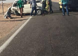 إصابة 10 لاعبين بنادي الوادي الجديد في انقلاب حافلة
