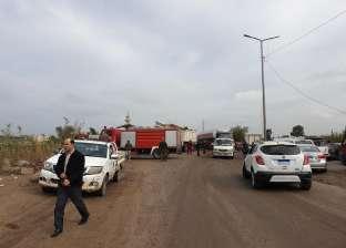 إصابة شخصين بينهما ضابط شرطة في تصادم سيارتين بالمنيا