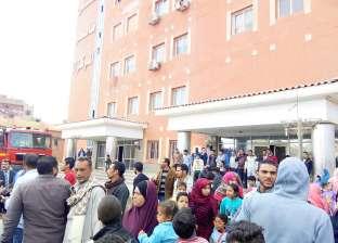 إصابة 4 أشخاص بينهم أمين شرطة في حادث مروري ببني سويف