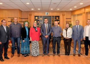 """رئيس جامعة المنصورة يستقبل وفد البعثة الألمانية لحفائر """"أخميم"""""""
