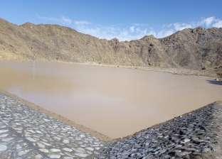 """""""ري جنوب سيناء"""": حجز 250 ألف متر مكعب من مياه السيول بسد وادي سلاف"""