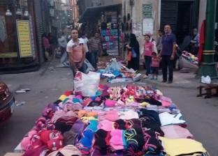 حملة لإزالة الإشغالات والتعديات على الطريق العام بوسط الإسكندرية