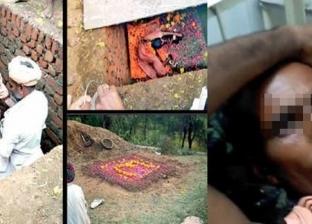 """إنقاذ هندي دفن نفسه حيا 8 ساعات """"للوصول إلى الألوهية"""""""
