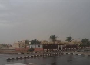 سقوط أمطار خفيفة على مدينة طور سيناء