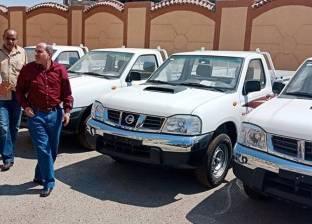 """""""كهرباء سيناء"""" تتسلم 10 سيارات جديدة"""