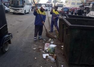 بالصور  رفع المخلفات بحي العامرية أول في الإسكندرية