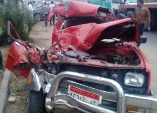 إصابة اثنين في حادث تصادم تريلا بربع نقل على الطريق الزراعي بطوخ