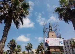 """مرممو الإسكندرية ينقذون تمثال """"سعد زغلول"""" من الإهمال والتخريب"""