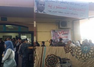 زحام بلجنة المغتربين بالإسكندرية.. وإقبال كثيف من المصوتين