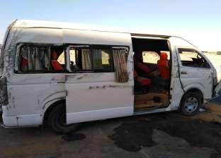 إصابة 9 عمال في تصادم ميكروباص وسيارة ملاكي بالسويس