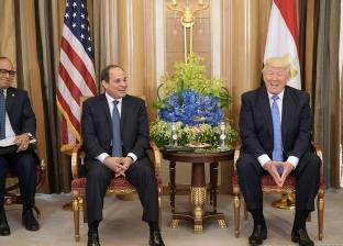 """""""الرئاسة"""": لقاء السيسي وترامب كان مثمرا وإيجابيا للغاية"""
