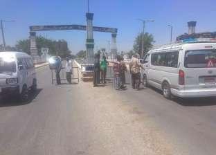 حملة مرورية مفاجئة على مدخل محافظة أسيوط الشمالي بمركز ديروط