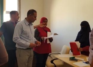 رئيس جامعة أسوان يتفقد إجراءات بدء الترشيح لانتخابات اتحاد الطلاب