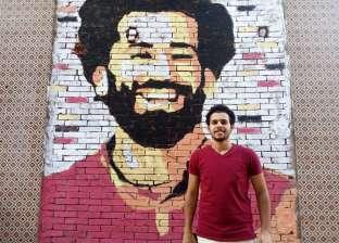"""""""خالد"""" يرسم جدارية لـ""""صلاح"""" على حائط منزله: """"نفسي أبو مكة يشوفها"""""""