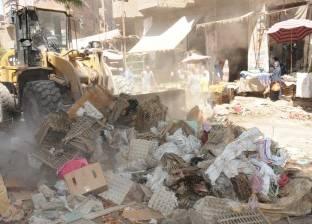 بالصور| الجيزة تزيل أكبر سوق  عشوائى بصفط اللبن