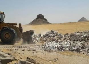 إزالة جبانات دهشور المبنية فوق المنطقة الأثرية
