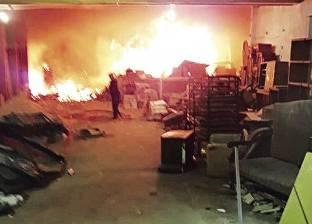 نشوب حريق بقطعة أرض فضاء غربي الإسكندرية.. وانقطاع الكهرباء