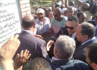 محافظ الإسكندرية يفتتح المشروع القومي للصرف الصحي بقرية أبيس الأولى