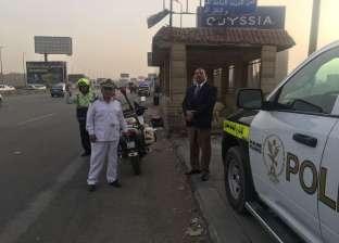 """""""مرور القاهرة"""" تواصل تكثيف الخدمات المرورية"""