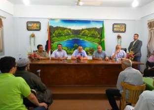 محافظ الشرقية يجتمع مع أهالي ديرب نجم لتقنين 68 أراضي أملاك الدولة