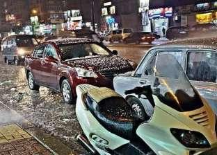 بالصور| طوارئ بالإسكندرية بعد سقوط أمطار ثلجية غربي المدينة