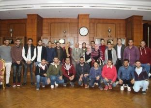 """رئيس """"كفر الشيخ"""" يبحث مع الطلاب استعدادات أسبوع شباب الجامعات"""