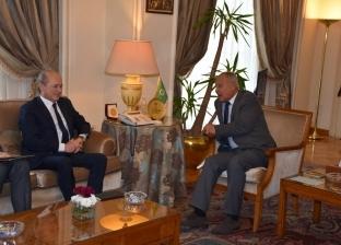 أمين عام جامعة الدول العربية يستقبل مبعوث الرئيس الفرنسي لسوريا