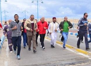 """الغرابلي يشارك في الماراثون الرياضي لـ""""تعليم مطروح"""""""