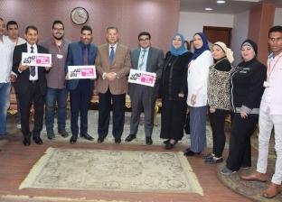 """محافظ بني سويف يدعم حملة """"لأني رجل"""": """"المرأة لها دور محوري في التنمية"""""""