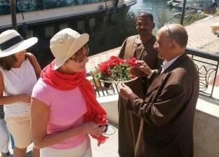 وصول 69 سائح إنجليزي لزيارة معبد أبيدوس بسوهاج
