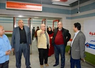 رئيس مترو الأنفاق والعضو المنتدب يتفقدان محطة العتبة