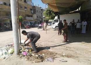 حملة لإزالة الإشغالات بحي المنتزه أول في الإسكندرية