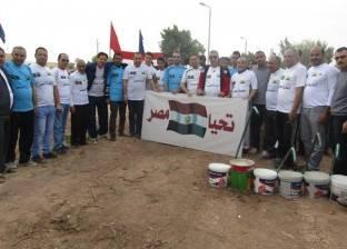 صور| انطلاق معسكر تجميل مدينة أبو رديس بجنوب سيناء
