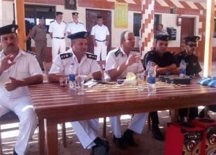 """بالصور  قوات أمن جنوب سيناء تستقبل الرحلات المدرسية لمبادرة """"كن إيجابيا"""""""