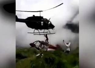 فيديو| مروحية تقطع رجلا إلى أشلاء بسبب طيار فقد السيطرة عليها