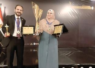 """""""رواد الأعمال العرب"""" يكرم اثنين من أساتذة جامعة المنيا"""