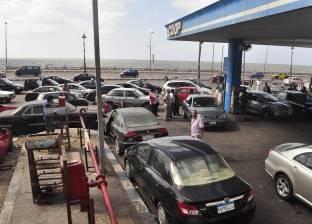 """محطات وقود تغلق أبوابها لعدم توفر البنزين وزحام على الـ""""80"""" بالفيوم"""