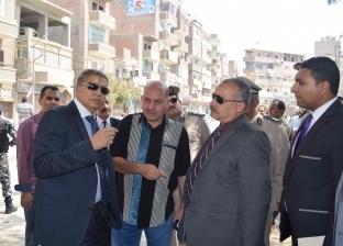 محافظ المنيا ومدير الأمن يقودان حملة لضبط المرور وإزالة الإشغالات