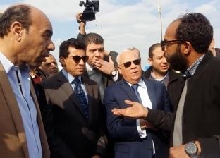 وزير الرياضة يتفقد استاد النادي المصري