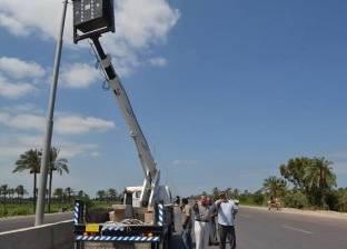 صيانة كشافات الإنارة بقرى مدينة طما بسوهاج