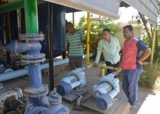 مركز الخارجة يستكمل خطة صيانة وتشغيل آبار مياه الشرب