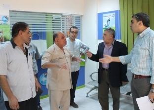 """رئيس شركة """"مياه الغربية"""" يتفقد أعمال تطوير مركز عملاء السنطة"""