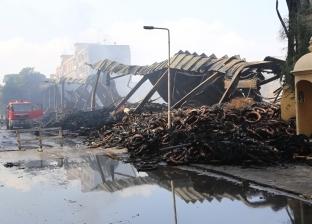 بالصور  محافظ المنوفية يعلن انتهاء أعمال إخماد حريق مخزن الإطارات