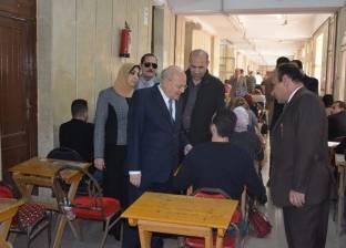 رئيس جامعة الزقازيق يتفقد لجان امتحانات التعليم المفتوح بكلية التجارة