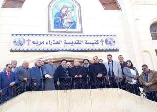 قيادات مركز بلقاس يهنئون الأقباط بعيد الميلاد في دير القديسة دميانة