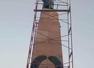 """""""فيه فايدة"""".. بدء ترميم تمثال سعد زغلول الأثري في الإسكندرية"""